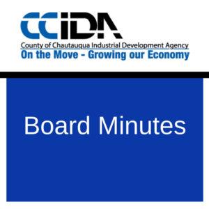 October 18, 2016 – CCIDA Board Minutes